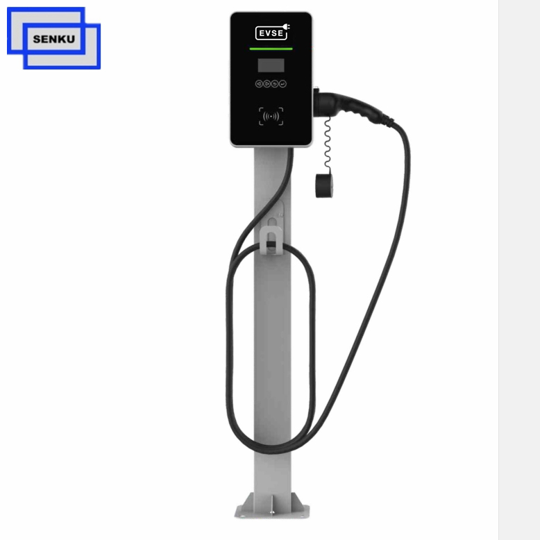 IEC 62196 Type2 7KW Home AC EV Charger With LED Screen