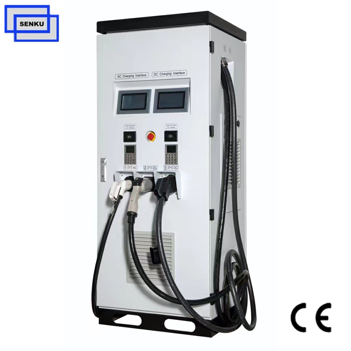 50V-500VDC 50KW CCS Type2 CHAdeMO DC EV Charger