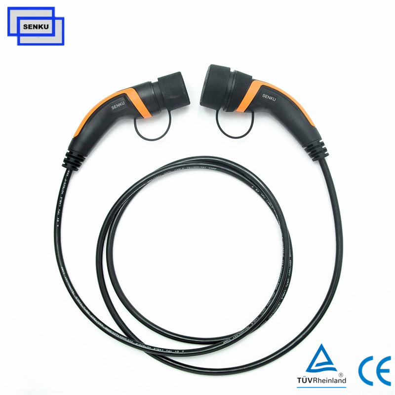 3 phase 32A Type 2 to  Type 2 Mode3 Cable Charger