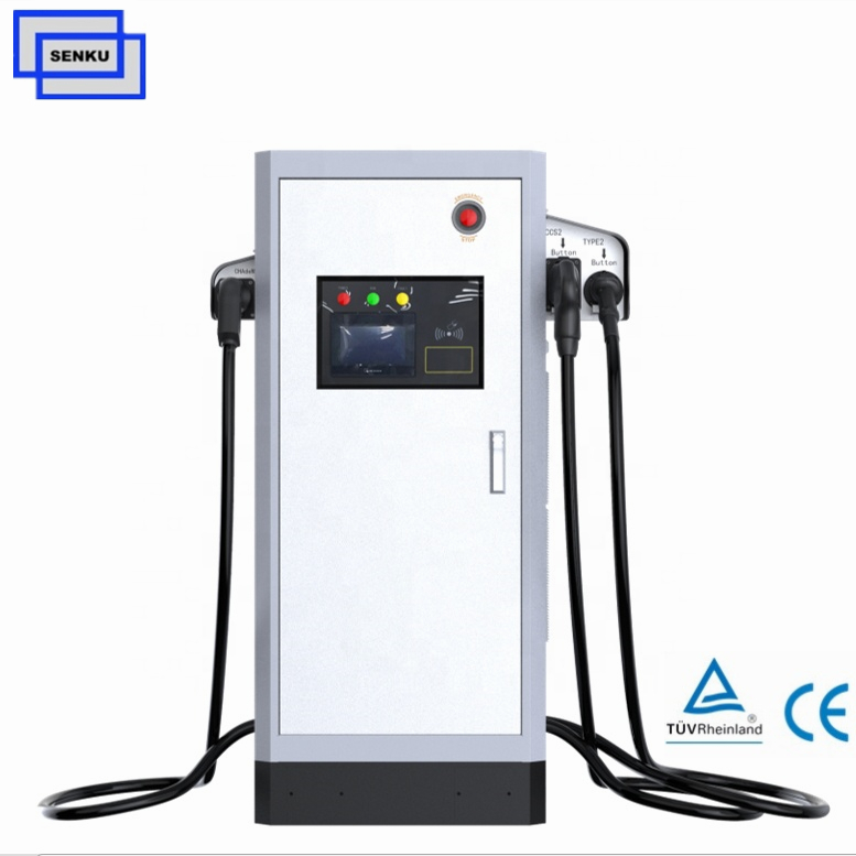 150V-550VDC 60KW CCS Type2 CHAdeMO DC EV Charger
